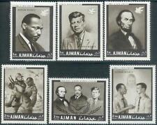 Ajman 1968 ** Mi.289/94 A Kennedy JFK Luther King Lincoln perf/gez.