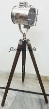DESIGNER NAUTICAL COLLECTABLE SEARCHLIGHT SPOT LIGHT STUDIO TRIPOD FLOOR LAMP