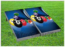 VINYL WRAPS Cornhole Boards DECAL Billiard Balls Bag Toss Game Stickers 443