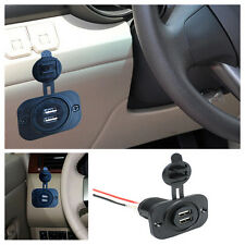 12V Car Motorcycle Dual USB Adapter Cigarette Lighter Socket Power Plug Outlet