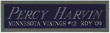 PERCY HARVIN VIKINGS NAMEPLATE AUTOGRAPHED SIGNED FOOTBALL HELMET JERSEY PHOTO