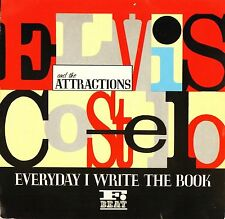 "ELVIS COSTELLO everyday i write the book/heathen town XX32 uk 1983 7"" PS EX/EX"