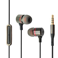 HIPOINT 2.0 DEEP BASS GUN METAL EARPHONES WITH MIC HEADPHONES FOR IPHONE SAMSUNG
