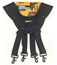 NEW TOUGHBUILT 4 Clip Padded Work/Tool Belt Support Braces/Suspenders TB-CT-51