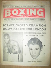 VINTAGE BOXING NEWS MAGAZINE SEPTEMBER 6th 1957 JIMMY CARTER v WILLIE TOWEEL