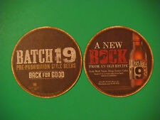 Beer Brewery Coaster: COORS Batch 19 Pre-Prohibition Style Bock Lager ~ COLORADO