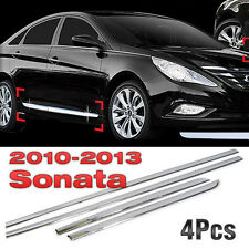 Side Door Sill Chrome Garnish Moldings Fit 2011 - 2014 HYUNDAI YF SONATA / i45
