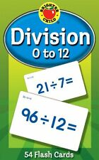 Division Flash Cards 0 to 12 Learning Math Game for Kids, Teachers, Classroom