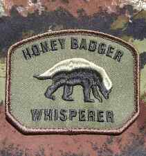 HONEY BADGER WHISPERER USA ARMY US MILITARY FOREST HOOK VELCRO® BRAND FAST PATCH
