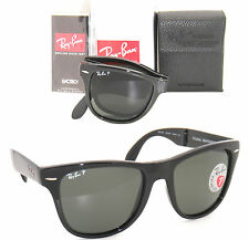 RAY BAN 4105 Folding Wayfarer RB 4105 601/58 54mm Black w/ Green Polarized LG