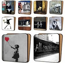 BANKSY Print Coasters Pack Of 10 - NEW Art Coasters Furniture, Dinnerware Sets