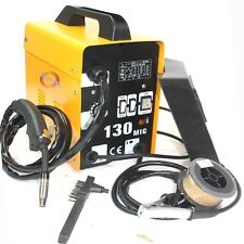 AUTO FEED MIG 130 GAS-LESS FLUX CORE WIRE WELDER WELDING MACHINE 115V Cool Fan
