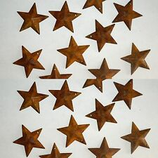 "1.5"" Rusty Primitive Tin/Metal Dimensional Barn Stars 20 pack 1 1/2""  NEW"