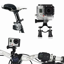 Bike Handlebar MOUNT for Gopro Hero 3 2 1 HD Camera Seatpost Pole Roll Bar
