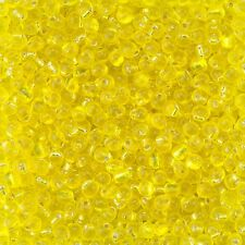 Miyuki Drops Seed Beads Transparent Silver Lined Yellow 3.4mm 25g Tube (D93/11)