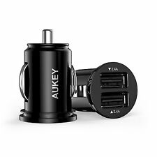Aukey 4.8A / 24W Dual USB Car Charger Adapter for Apple Android Devices Phones !