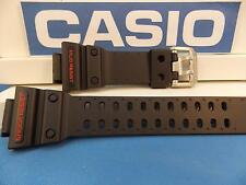 Casio Watch Band GXW-56, GX-56 Black G-Shock Strap Red Letters Mud Shock Resist
