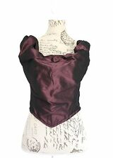 VIVIENNE WESTWOOD RED LABEL PURPLE TAFFETA CORSET BUSTIER TOP *SIZE III / UK 10*