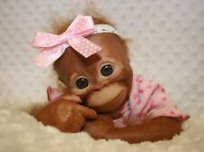 REBORN Monkey BINDI ORANGUTAN VINYL DOLL KIT Already Painted & Rooted for you