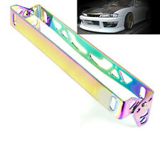LICENSE PLATE TILT RELOCATION BRACKET FRONT BUMPER MOUNT HOLDER NEO CHROME P1
