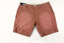 $85 Mens RALPH LAUREN Chambray Shorts 42 WAIST Coral Red Preppy POLO beach