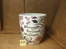 Strength Beyond Measure/ Coffee Mug, The Breast Cancer Site (Used/EUC)
