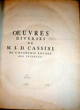 1730 Cassini Astronomy. l'Académie Royale des Sciences 4to
