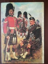 POSTCARD THE QUEENS OWN CAMERON HIGHLANDERS