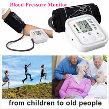Automatic LCD Digital Arm BP Blood Pressure Monitor Heart Beat Meter with Cuff
