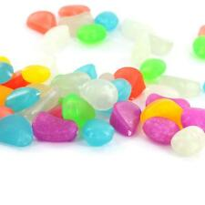 20  Glow in the Dark Pebbles Stones Aquarium Fish Tank uk stock fast post new !!