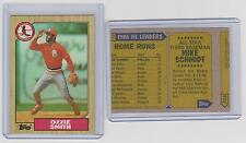 1987 Topps Wrong Back MIKE SCHMIDT Phillies Error Card OZZIE SMITH CARDINALS