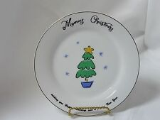 Merry Brite China Christmas Holiday Salad Plate Christmas Tree 7-1/2""