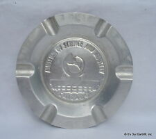 Vintage Chicago Museum of Science & Industry Pressed Tin Metal Souvenir Ashtray