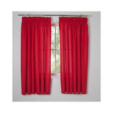 66x90 Poppy Red Pencil Pleat Curtains Kids Boys Girls Bedroom Unlined Argos