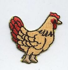 Iron On Embroidered Applique Patch Small Farmhouse Farm Chicken Hen