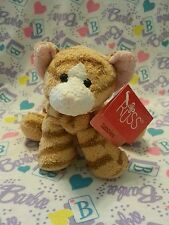 "New Russ Tabbies - Luv Pets 5"" Orange Ginger Tabby Kitty Cat Beanie Plush w/ Tag"