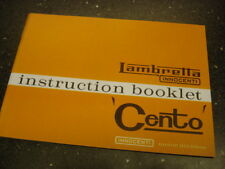 Lambretta Cento Owners Manual - J50 J100 J100 (1GG129)