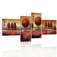 Canvas Prints Home Decor Wall Art Painting Picture-Red Forest Trail Unframed