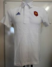 FRANCE RUGBY WHITE POLO SHIRT BY ADIDAS ADULTS SIZE SMALL BRAND NEW WITH TAGS