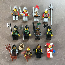 Lego Lot Castle Kingdoms RED LION GREEN DRAGON KNIGHTS MINIFIGURES Jester