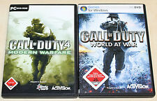CALL OF DUTY 4 & 5 - MODERN WARFARE WORLD AT WAR - PC SPIELE SAMMLUNG - FSK 18