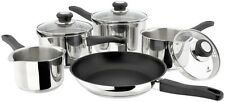 Judge J3C1 5 Piece Stainless Steel Pan Set Suitable For All Hob Types