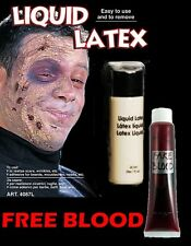 28ML liquid latex zombie chair cicatrice make up fancy dress & free faux sang (H9)