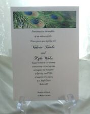 50 UNIQUE PEACOCK FEATHERS WEDDING INVITATIONS CUSTOMIZE AND PERSONALIZE FOR YOU