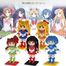 Anime Sailor Moon Tsukino Usagi Diamond Mini Building Nano Blocks Toys Set 5 Pcs
