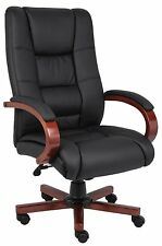 """Boss Office Products Cherry High Back Executive Wood Finished Chairs 21""""W X 20""""D"""