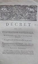 Décret enregistrement & visa des effets au porteur 28 Novembre 1792