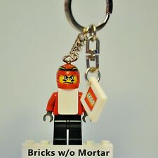 New Genuine LEGO Snowboarder Key Chain with Lego Logo Tile