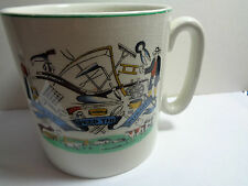 VINTAGE STAFFORDSHIRE  CUP GOD SPEED THE PLOUGH (ref23.8)