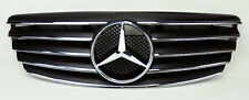 Mercedes E Class W211 03-06 5 Fin Front Hood Sport Black Chrome Grill Grille